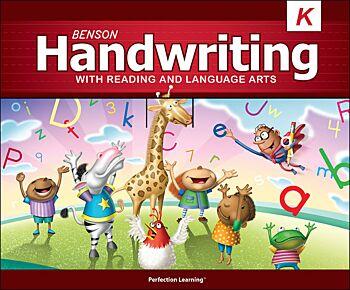 Benson Handwriting - Grade K - Slant Manuscript (English)