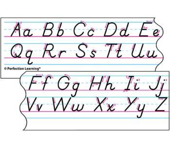 Benson Handwriting Slant Manuscript - Desk Strips