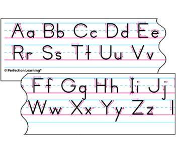 Benson Handwriting Vertical Manuscript - Desk Strips