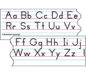 Benson Handwriting Vertical - Spanish Desk Strips