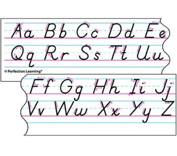 Benson Handwriting Slant - Spanish Desk Strips