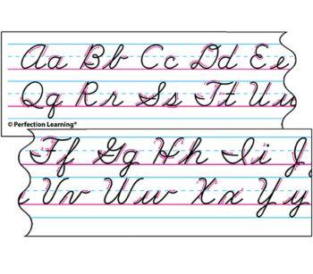 Benson Handwriting Cursive - Spanish Desk Strips