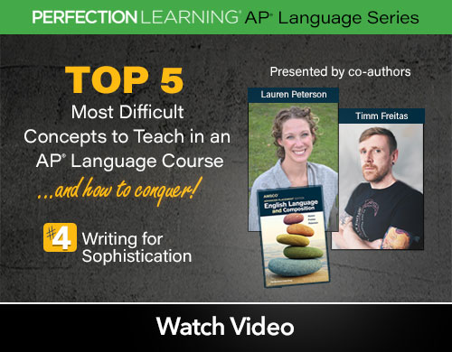 #APLangTop5 Session 2: Writing for Sophistication